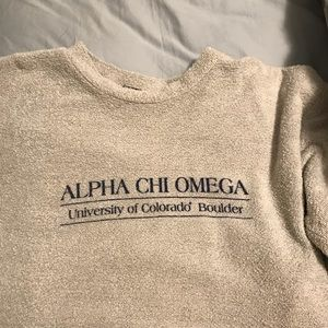 Alpha Chi Omega Woolly Threads Sweatshirt